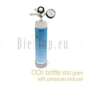 CO2 bottle 600 gram with mini CO2 pressure reducer