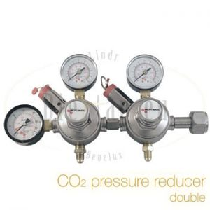 CO2 pressure reducer double