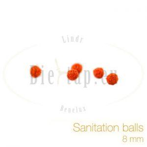 Sanitation balls for beercooler 8 mm