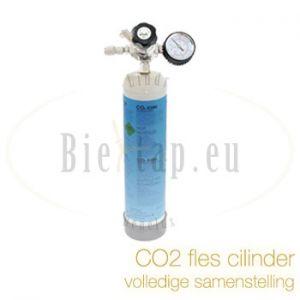 CO2 fles 600 gram wegwerp met CO2 meter