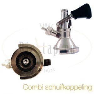 Lindr bierfustkoppeling combi schuif / M-type
