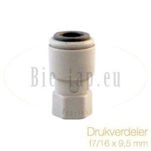 JG drukregelaar 7/16 x 9,5 mm