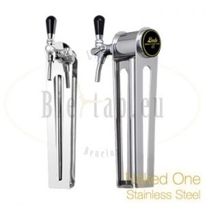 Biertap Lindr tapzuil naked one stainless steel roestvrij staal