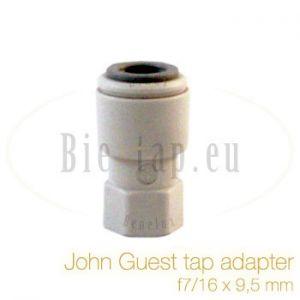 John Guest adapter 7/16 x 9,5 mm