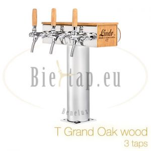 T Grand Oak Wood dispense tower 3 taps