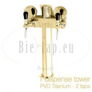 Lindr T2 dispense tower PVD/titanium