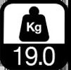 19.0 kg