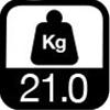 21.0 kg