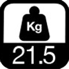 21.5 kg