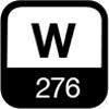 276 W