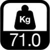 71 kg