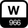 966 W