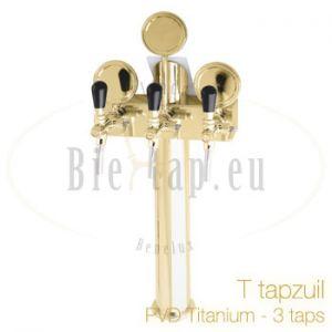 Lindr T-tapzuil PVD Titanium 3 taps