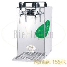 Lindr Kontakt 155/K 2-taps beer cooler with air compressor