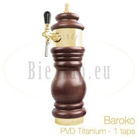 Lindr Baroko Dispense tower PVD/titanium finish