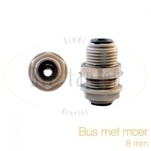 Bus met moer 8 mm