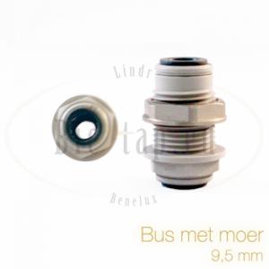Bus met moer 9,5 mm