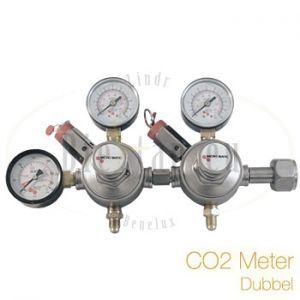 CO2 Reduceerventiel G3/4 2 taps (dubbele CO2 meter)