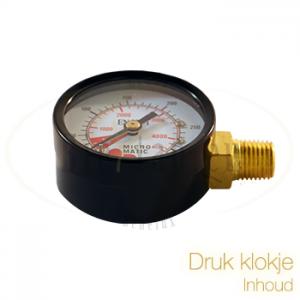 Klok CO2 meter inhoud CO2 fles