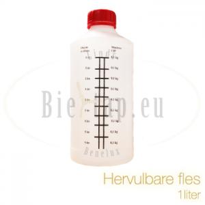 1 liter fles leeg