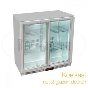 Koelkast met 2 glazen deuren