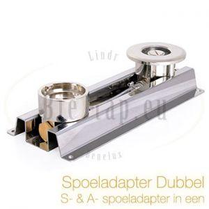 Spoeladapter dubbel bajonet en platte schuif